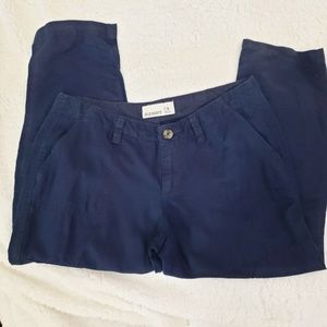 Old Navy Linen blend capris navy blue size 4